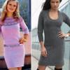 С чем носить вязаное платье-свитер