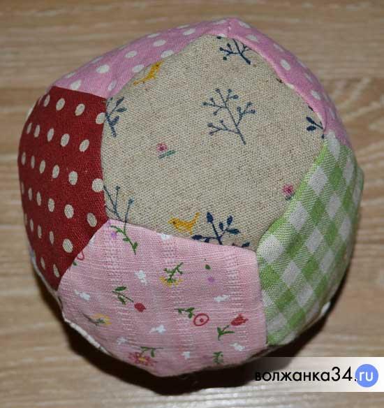 Мягкий мячик из пятиугольников